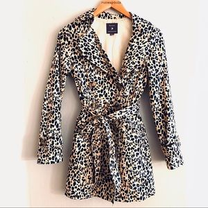 Forever 21 | Cheetah Leopard Trench Coat Small